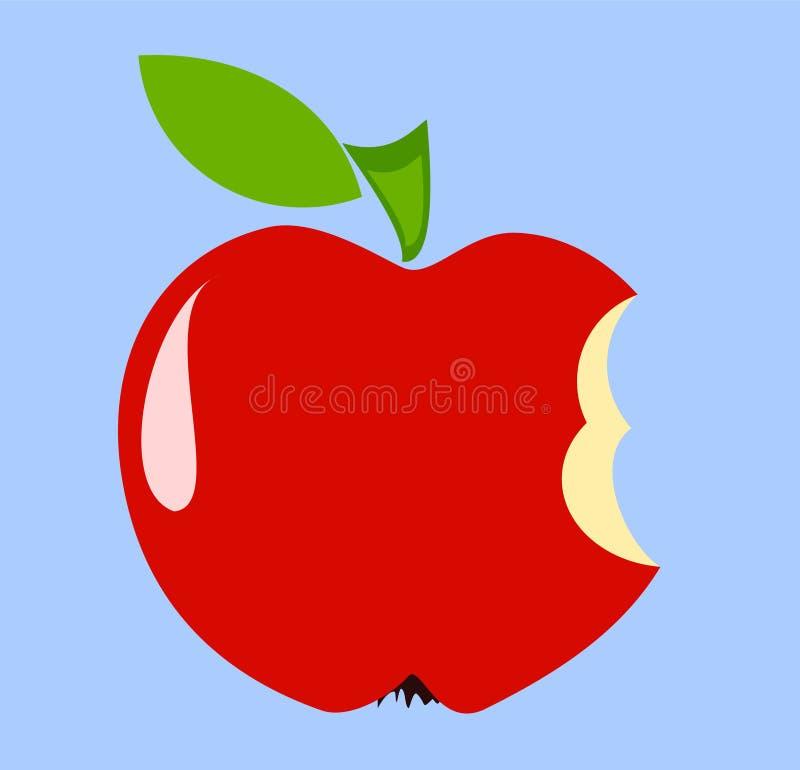 яблоко biten иллюстрация штока