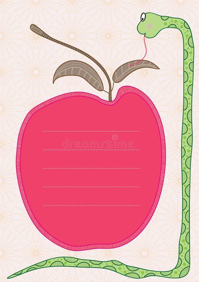 яблоко eps защищает змейку иллюстрация штока