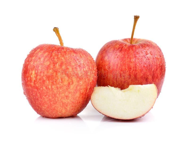 Яблоки на белой предпосылке стоковые фотографии rf