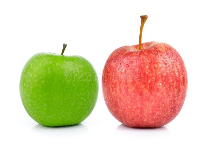 Яблоки на белой предпосылке стоковые изображения