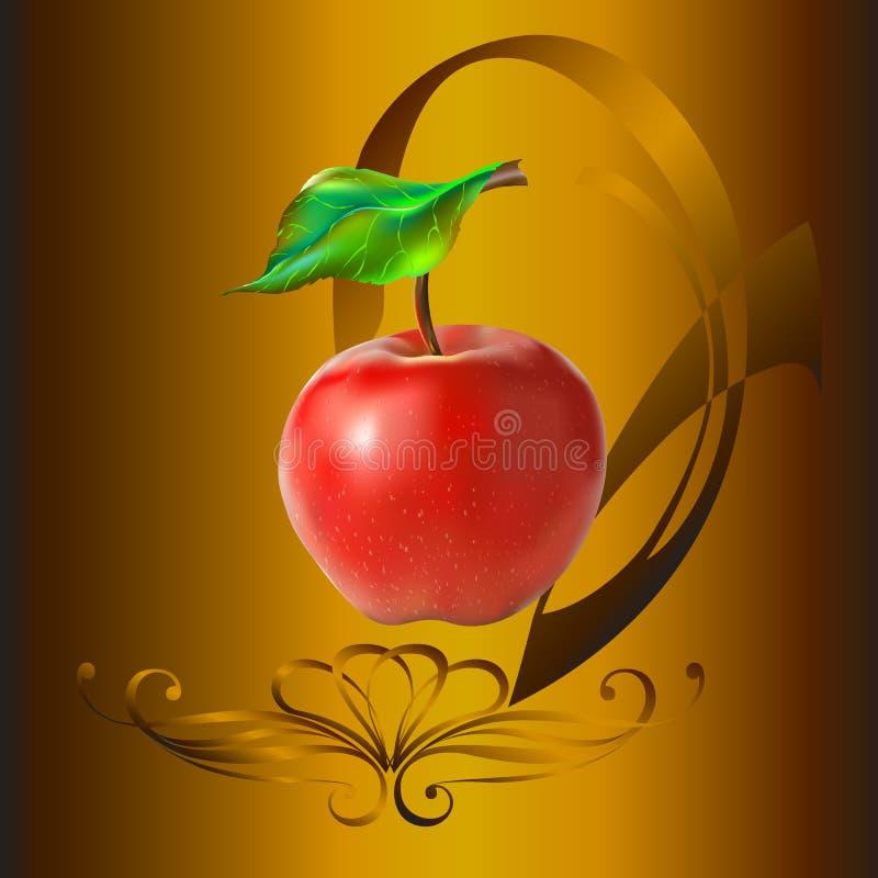 Яблоко в пейзаже стоковая фотография rf
