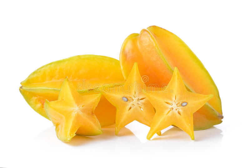 Яблоко звезды на белой предпосылке стоковое изображение