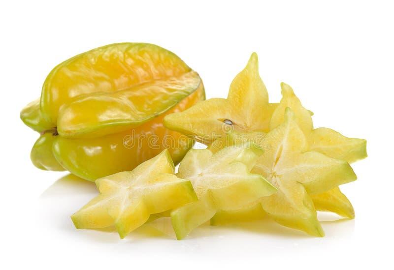 Яблоко звезды на белой предпосылке стоковые изображения