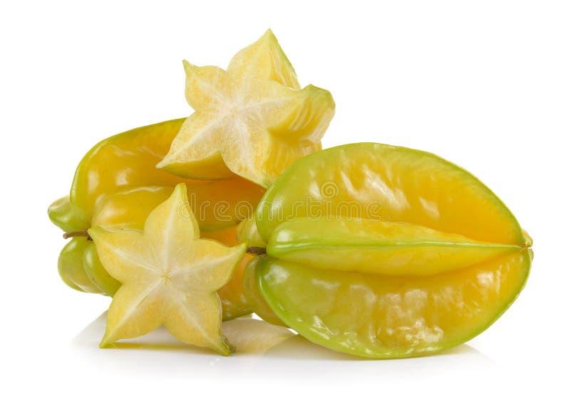 Яблоко звезды на белой предпосылке стоковые фото