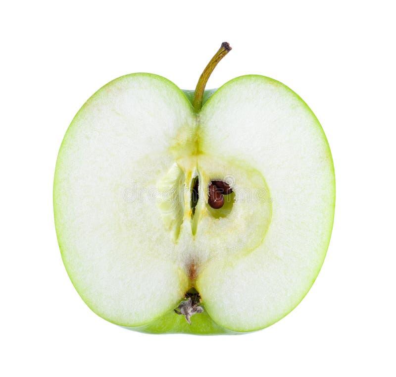 яблоко - зеленый ломтик стоковая фотография rf
