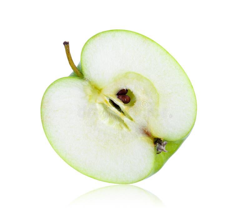 яблоко - зеленый ломтик стоковые фотографии rf