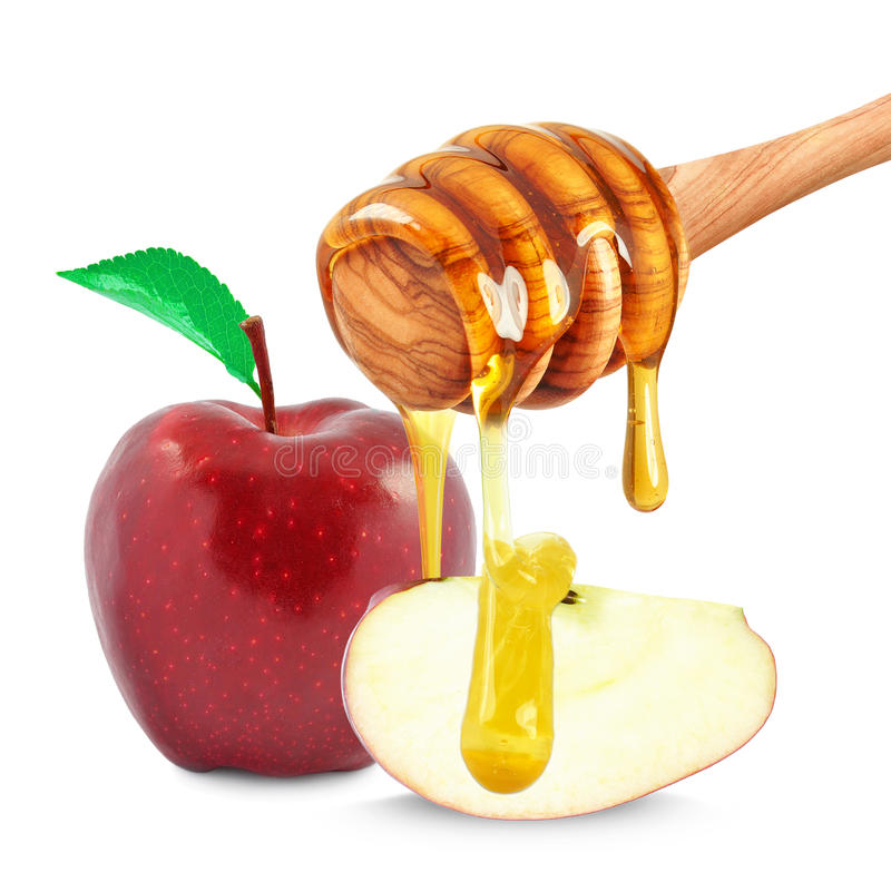 Яблоко и мед стоковое фото