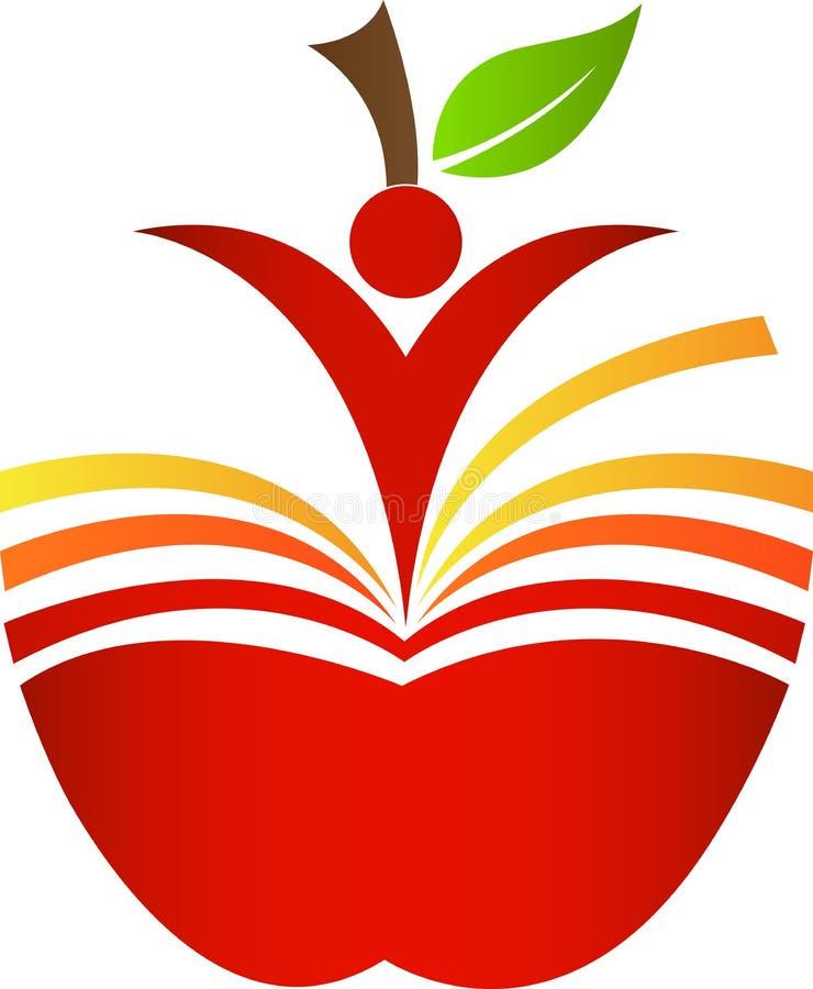 Яблоко книги иллюстрация штока