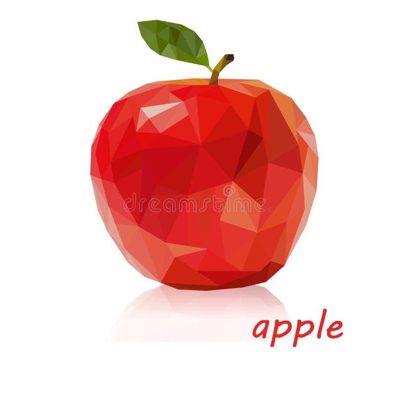 Яблоко низко поли бесплатная иллюстрация