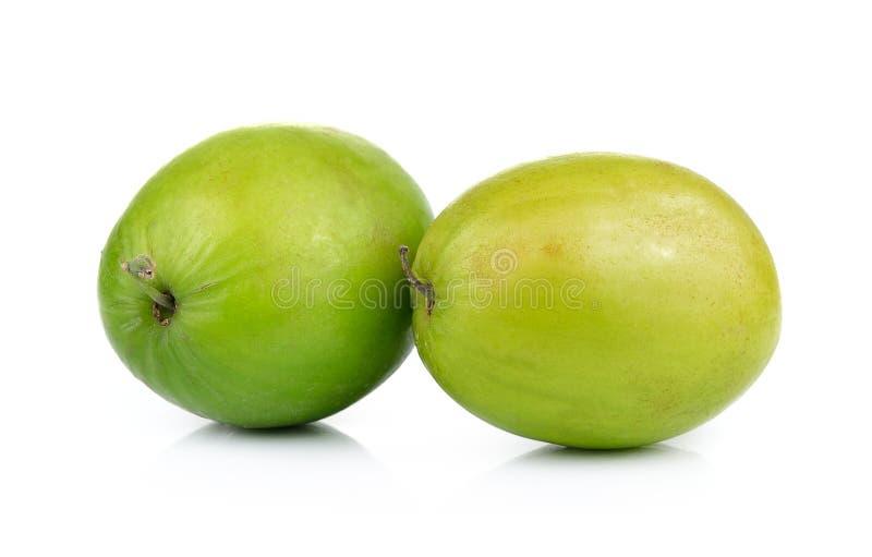 Яблоко обезьяны изолированное на белой предпосылке стоковое фото