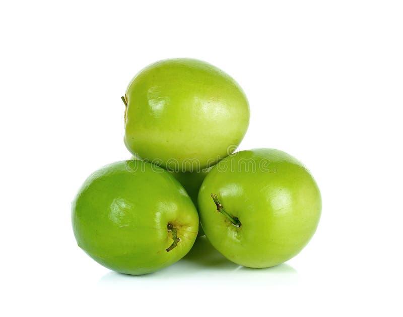 Яблоко обезьяны изолированное на белой предпосылке стоковые фотографии rf