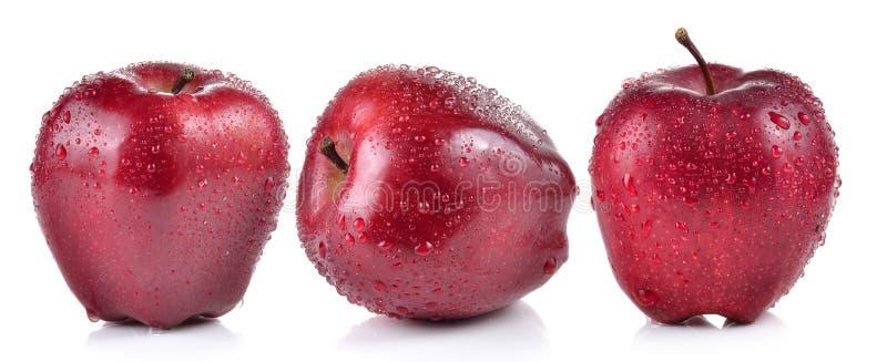 яблоко падает красная вода стоковая фотография rf