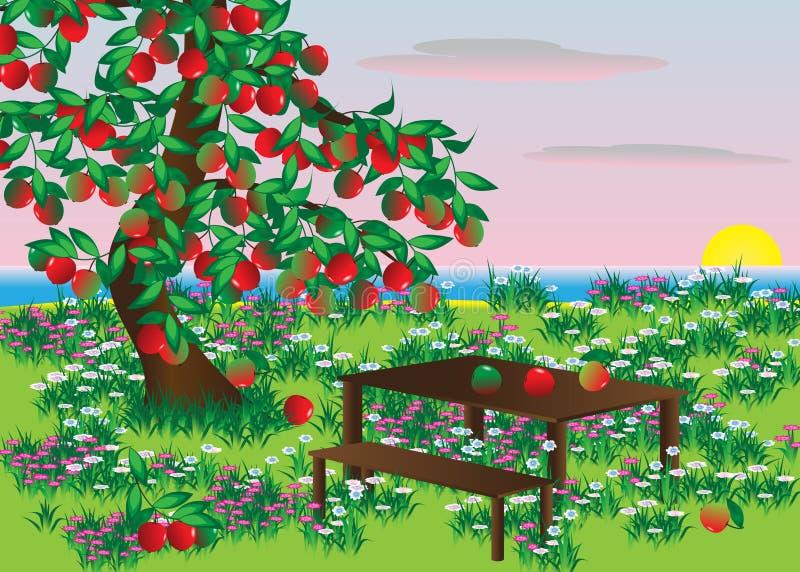 Яблоко. иллюстрация штока