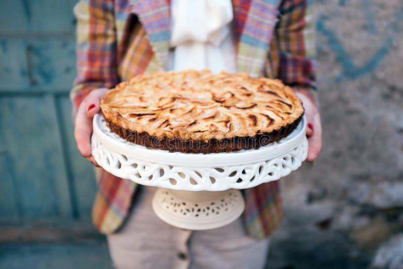 Яблочный пирог стоковые изображения rf