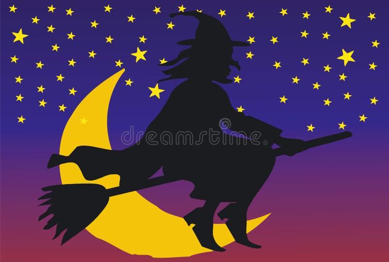 Явление божества приходит к ночь иллюстрация вектора