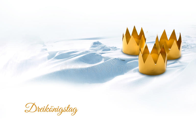 Явление божества, 3 короля День, символизированный 3 кустарничало кроны o стоковые изображения rf