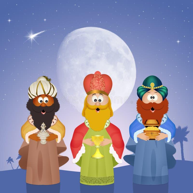 Явление божества 3 мудрецов бесплатная иллюстрация