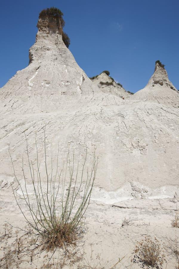Явление Komolithi геологохимическое на Potamida в Крите Греция стоковое фото rf