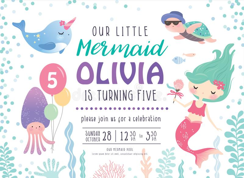 Ягнит карточка приглашения вечеринки по случаю дня рождения бесплатная иллюстрация