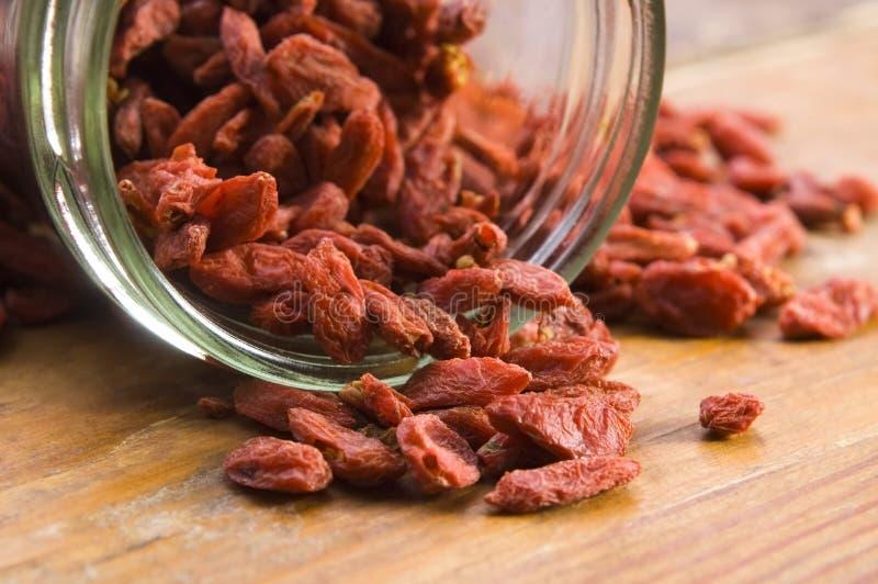 ягоды высушили красный цвет goji стоковое фото rf