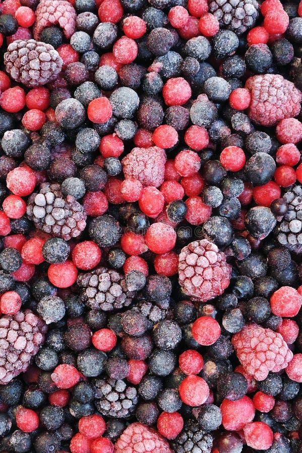 ягоды закрывают замороженный плодоовощ смешанный вверх стоковые фотографии rf