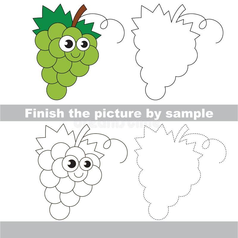 ягод Рабочее лист чертежа иллюстрация штока