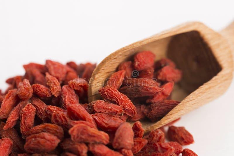 ягоды высушили goji стоковые фотографии rf