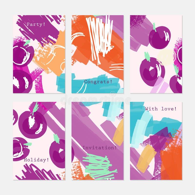 Ягоды нарисованные конспектом фиолетовые на белизне бесплатная иллюстрация