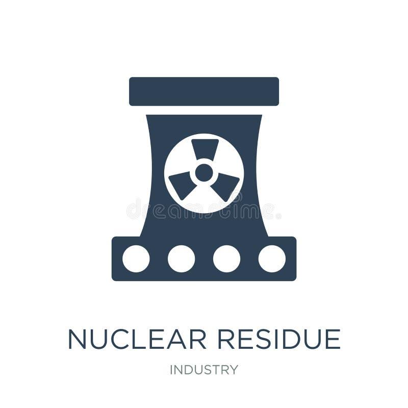ядерный значок выпарки в ультрамодном стиле дизайна ядерный значок выпарки изолированный на белой предпосылке ядерный значок вект иллюстрация штока