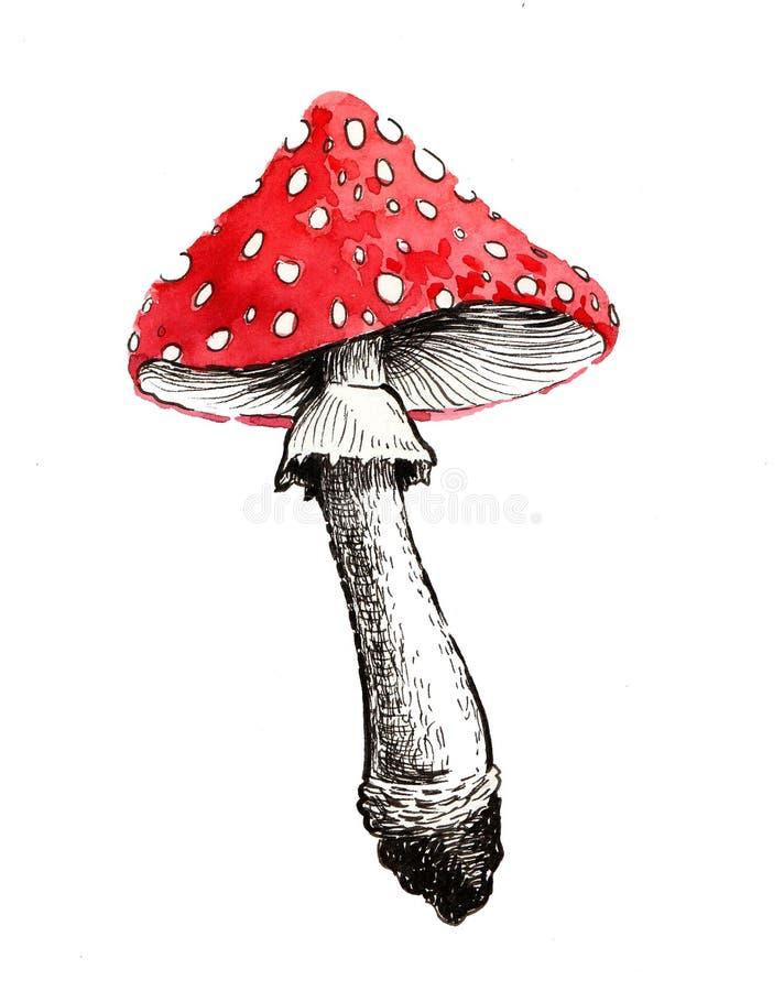 Ядовитый гриб иллюстрация вектора