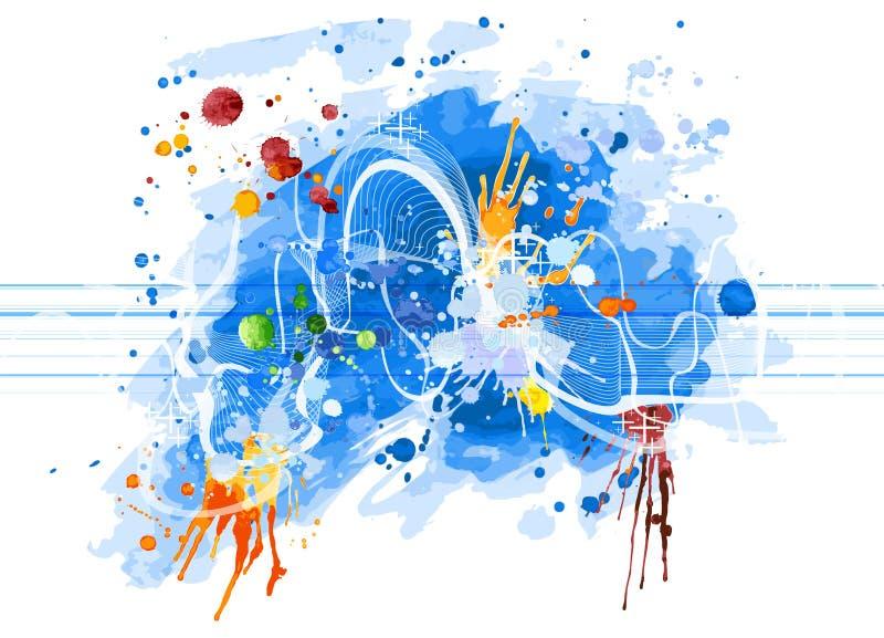 ядровая волна акварели иллюстрация штока