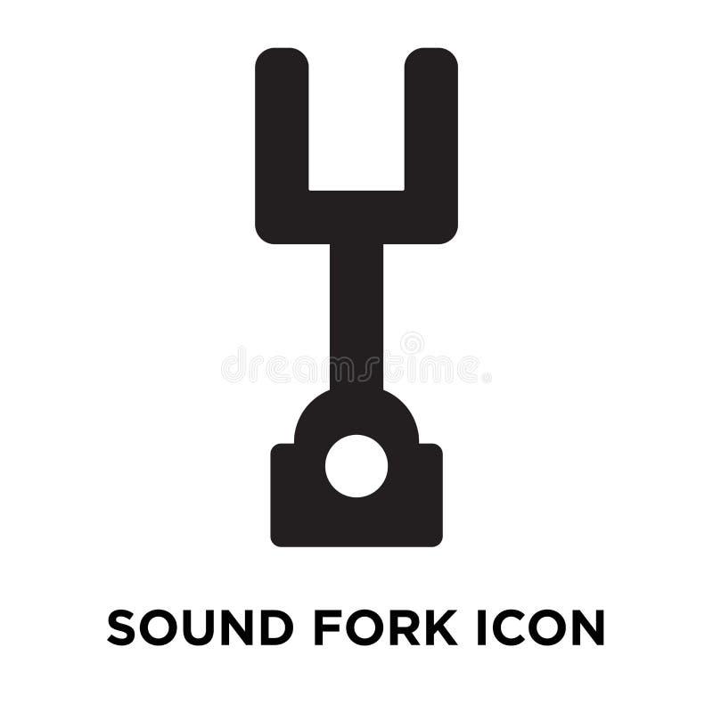Ядровый вектор значка вилки изолированный на белой предпосылке, concep логотипа иллюстрация вектора