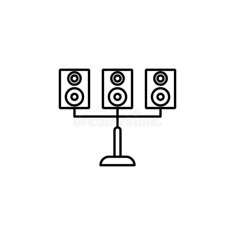 ядровый значок столбца Элемент значка освещения для передвижных apps концепции и сети Тонкую линию значок столбца звука можно исп иллюстрация штока