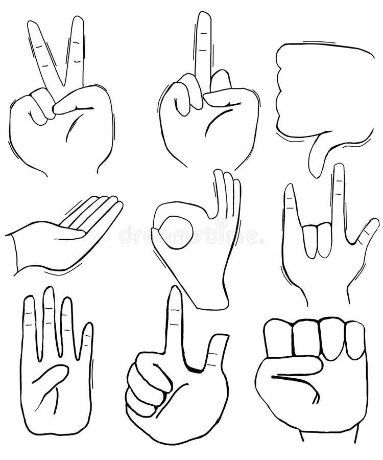 Языки жестов рук, который нужно сказать стоковая фотография