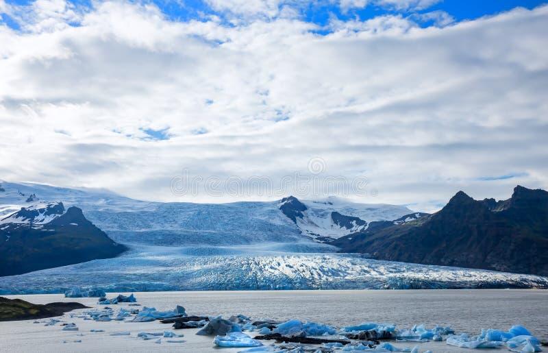 Язык ледника стоковые изображения rf