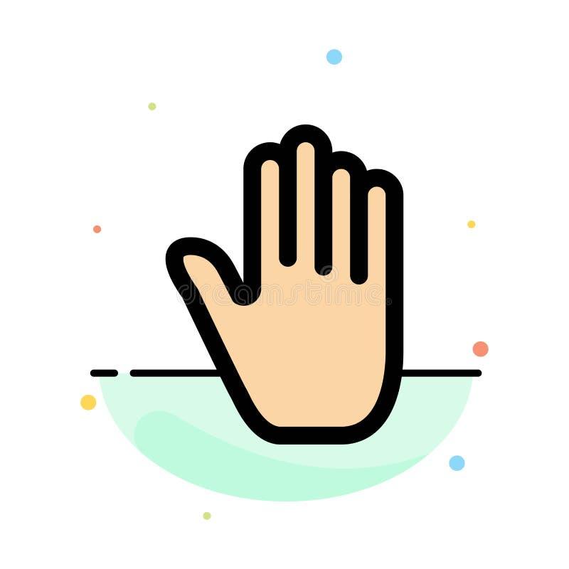 Язык жестов, жесты, рука, интерфейс, абстрактный плоский шаблон значка цвета бесплатная иллюстрация