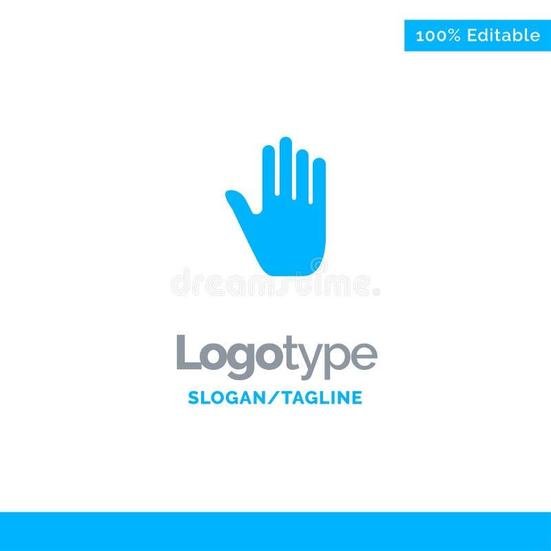 Язык жестов, жесты, рука, интерфейс, голубой твердый шаблон логотипа r бесплатная иллюстрация