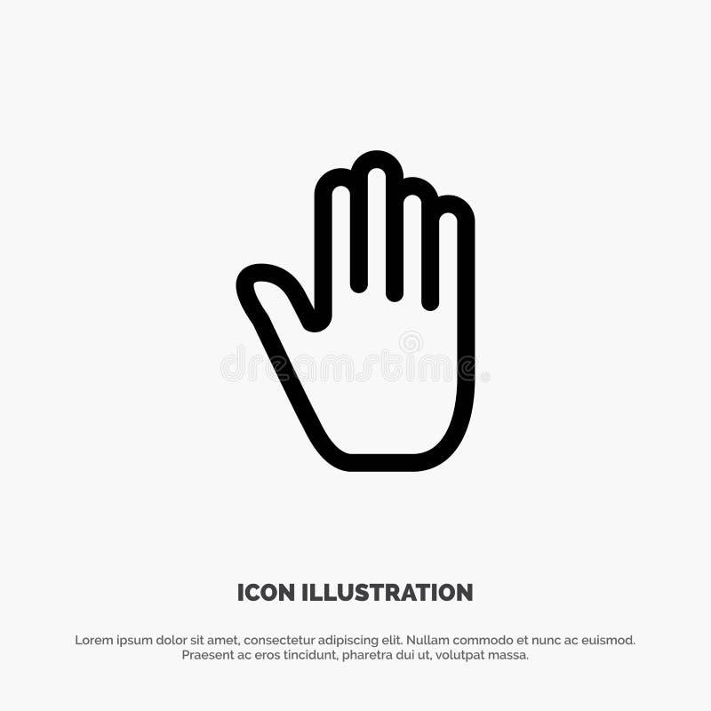 Язык жестов, жесты, рука, интерфейс, линия вектор значка бесплатная иллюстрация
