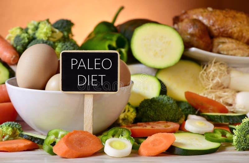 Яичка, цыпленок, овощи и диета paleo текста стоковые фотографии rf