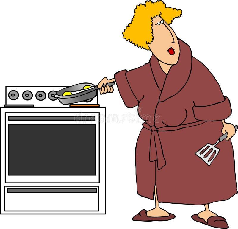 яичка cookin иллюстрация штока