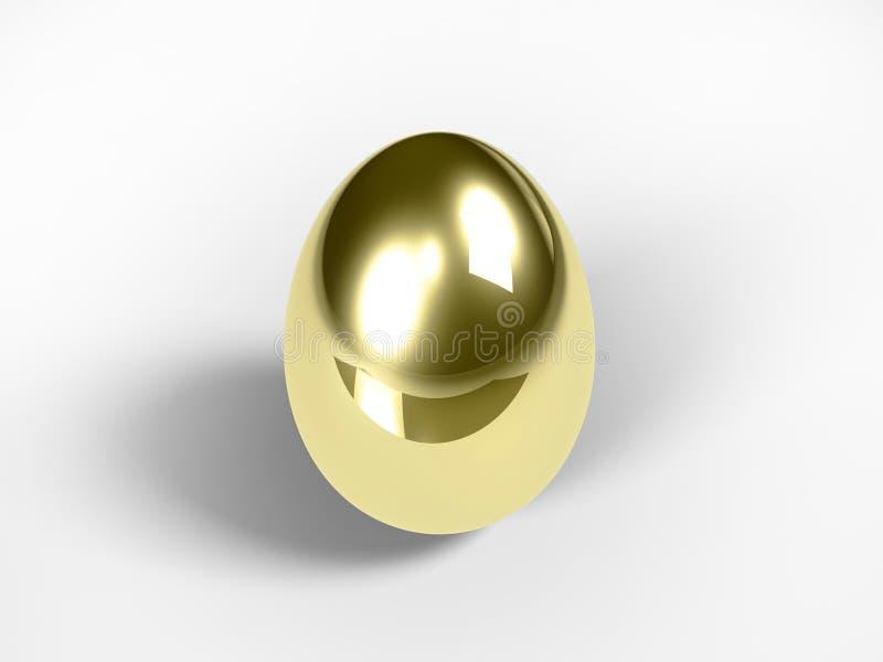 яичко золотистое иллюстрация штока