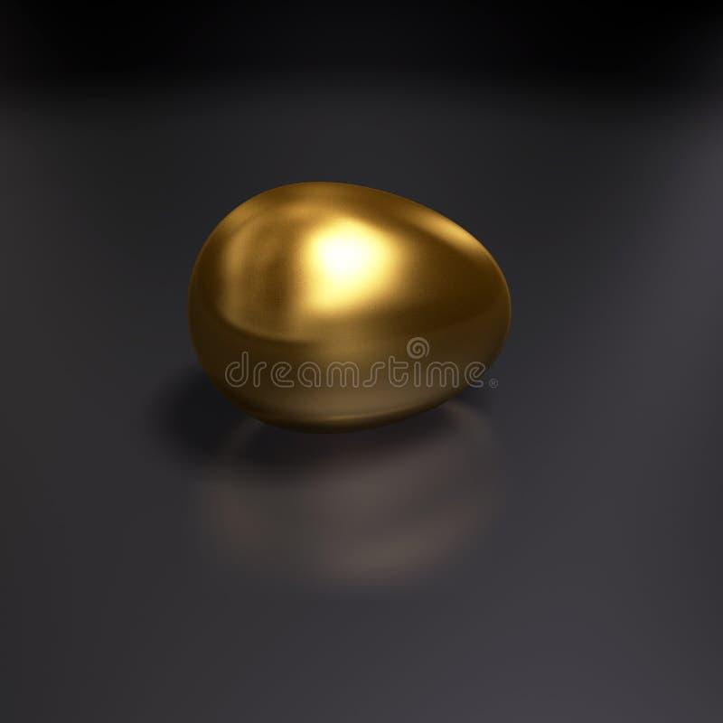 яичко золотистое иллюстрация вектора