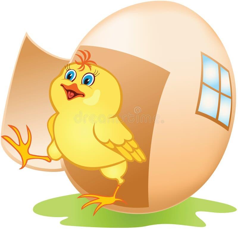 Download яичко цыпленка шаржа иллюстрация вектора. иллюстрации насчитывающей ширины - 18375646