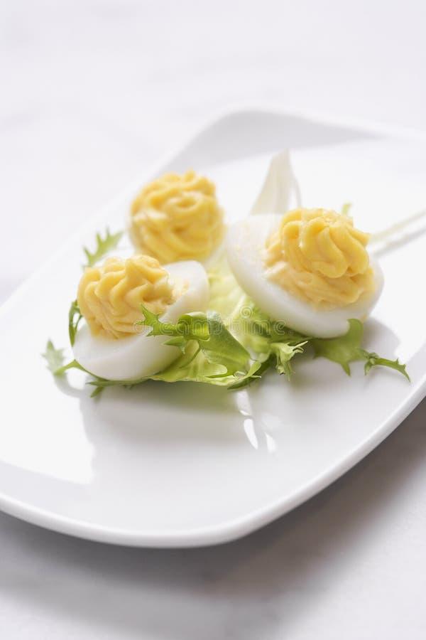 яичко deviled закуской стоковые фотографии rf