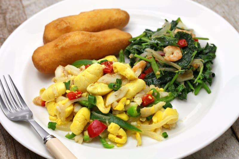 Ямайский завтрак стоковые изображения
