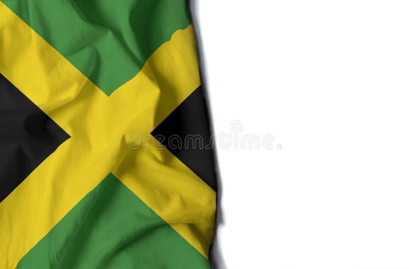 ямайский сморщенный флаг, космос для текста стоковые фотографии rf