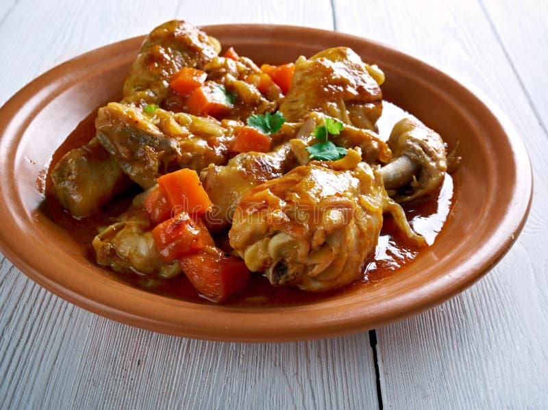 Ямайский цыпленок тушёного мяса Брайна стоковая фотография rf