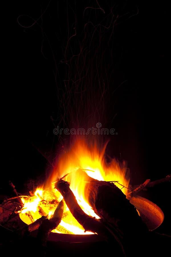 яма пожара стоковая фотография