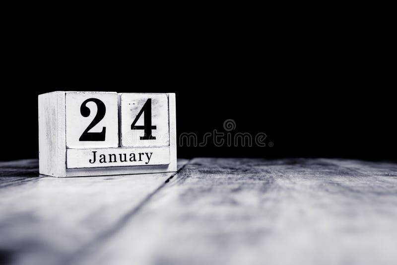 24 января, 24 января, двадцать четвертое января, календарный месяц - дата, годовщина или день рождения стоковое фото