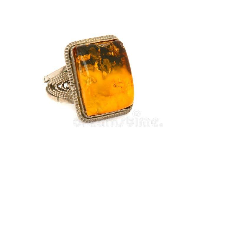 янтарное кольцо стоковое фото